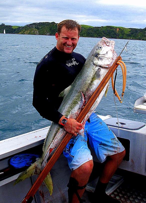 Winston Cowie Spearfishing New Zealand Kingfish