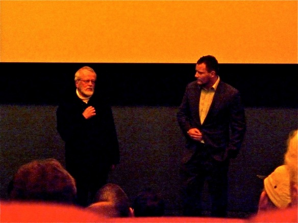 David Sims and Winston Cowie at the Mystery of Midge Bay premiere in Matakana