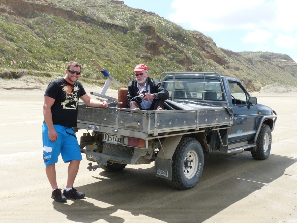 Winston Cowie and David Sims - on set at Mystery at Midge Bay
