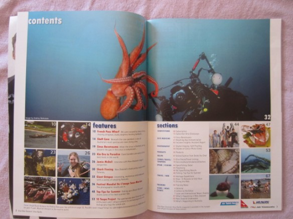 Dive NZ magazine - Spearfishing Qatar Contents