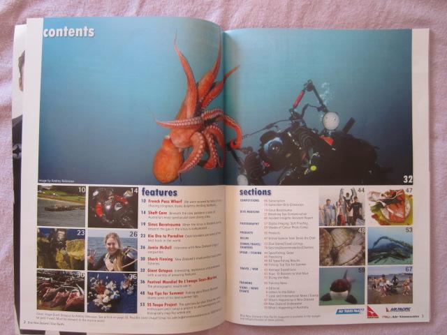 Dive NZ magazine - Spearfishing Qatar Contents