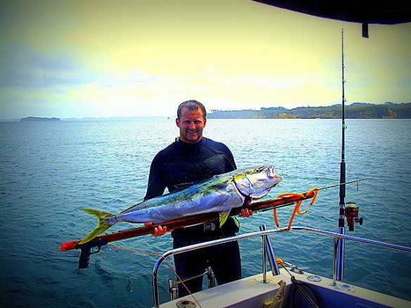 Winston Cowie 50lb Kingfish - Moana Nui Fishing Club Winner (2012-2013)