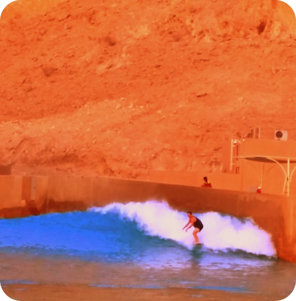 "Winston Cowie surfing The Breakwater ""Right"", Abu Dhabi."