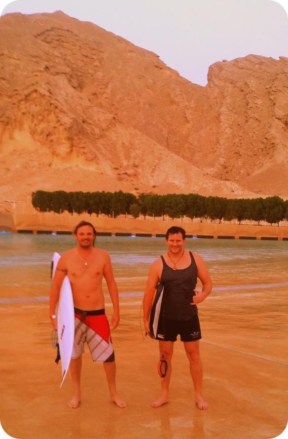 Surfing Abu Dhabi.