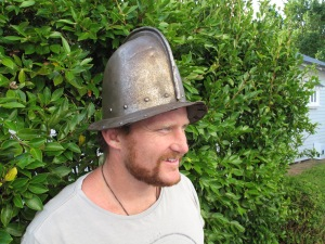 Winston Cowie and the Manukau Harbour helmet.